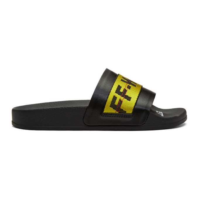 Off-White SSENSE Exclusive Black Industrial Pool Slides