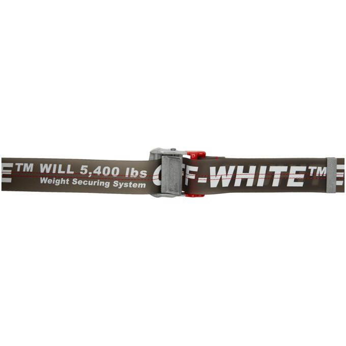 Off-White ホワイト and グレー PVC インダストリアル ベルト