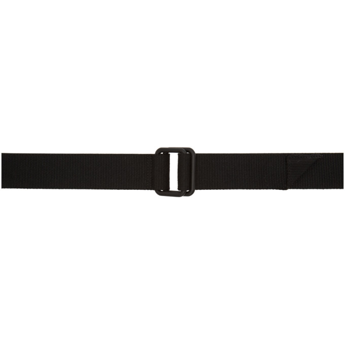 11 by Boris Bidjan Saberi Black Webbing Logo Belt