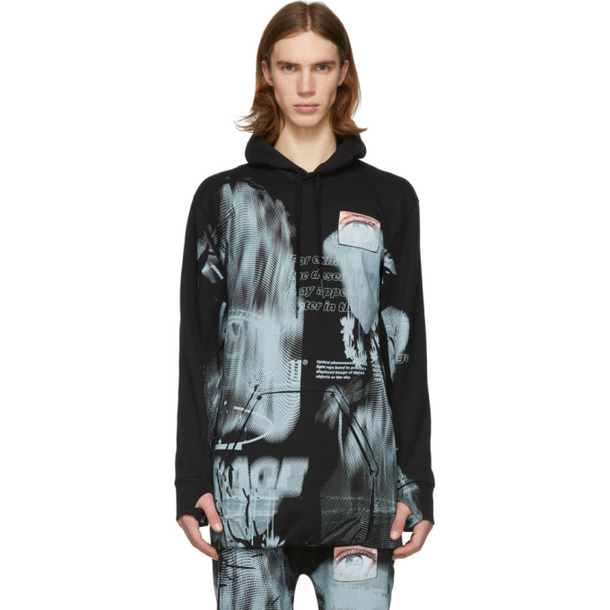 Image of 11 by Boris Bidjan Saberi Black Mirage Hoodie