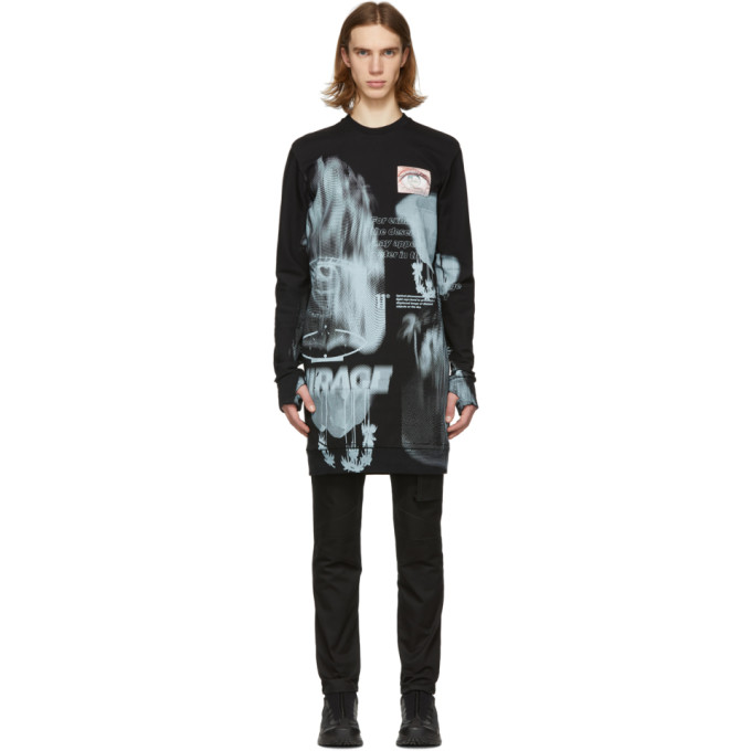 Image of 11 by Boris Bidjan Saberi Black Mirage Sweatshirt