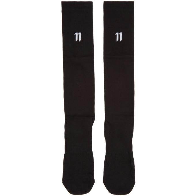 Image of 11 by Boris Bidjan Saberi Three-Pack Black Logo Socks
