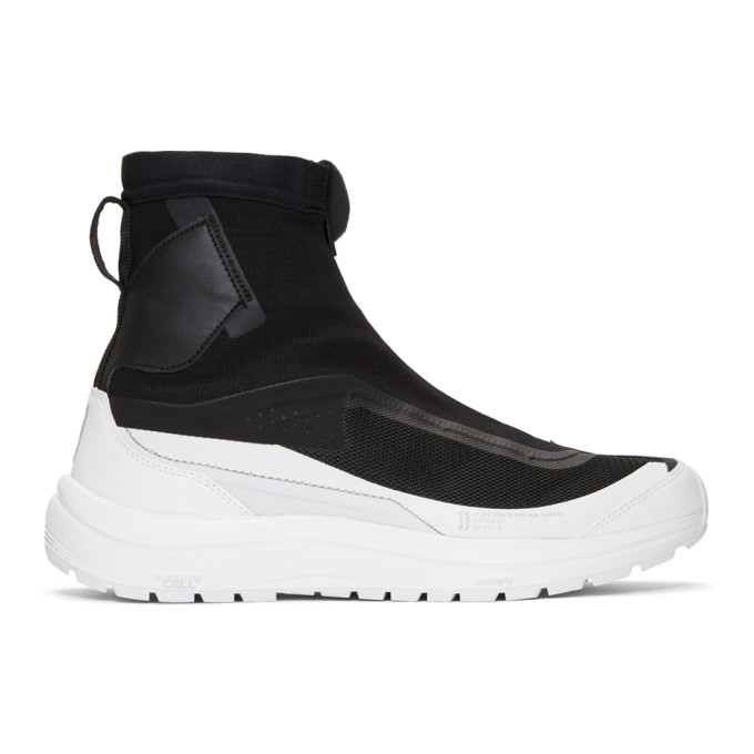 11 by Boris Bidjan Saberi Black White Salomon Edition Bamba 2 High Top Sneakers