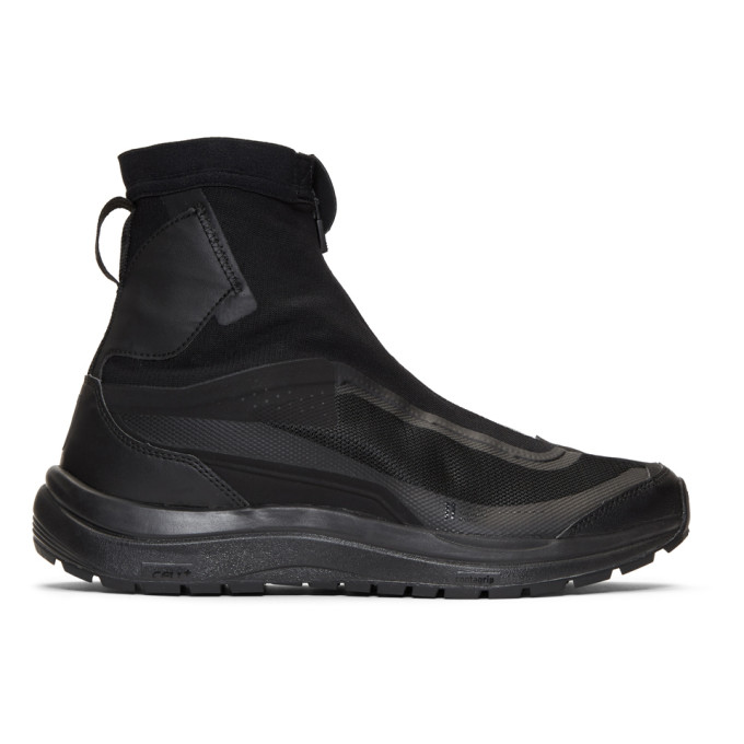 Image of 11 by Boris Bidjan Saberi Black Salomon Edition Bamba 2 High-Top Sneakers