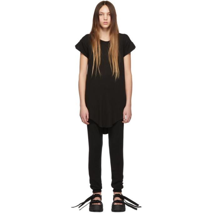 Image of Boris Bidjan Saberi Black Garment-Dyed T-Shirt