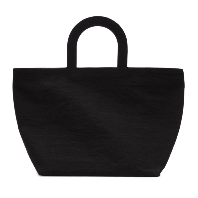 Image of Building Block Black Crinkle Stencil Tote