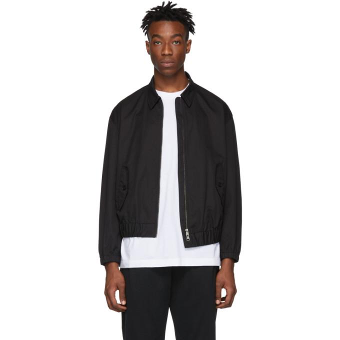 Image of Diet Butcher Slim Skin Black Asymmetric Blouson Jacket