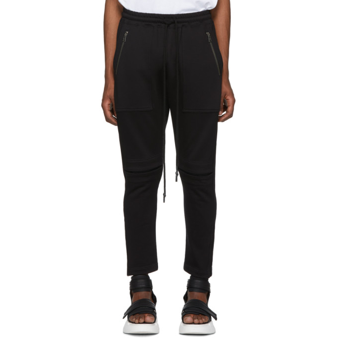 Image of Diet Butcher Slim Skin Black Cracked Lounge Pants