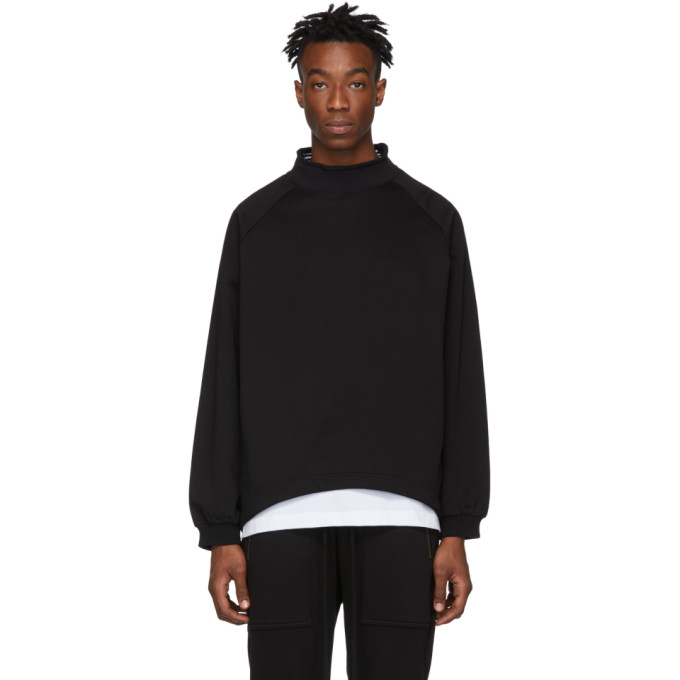 Image of Diet Butcher Slim Skin Black Bottle Neck Sweatshirt