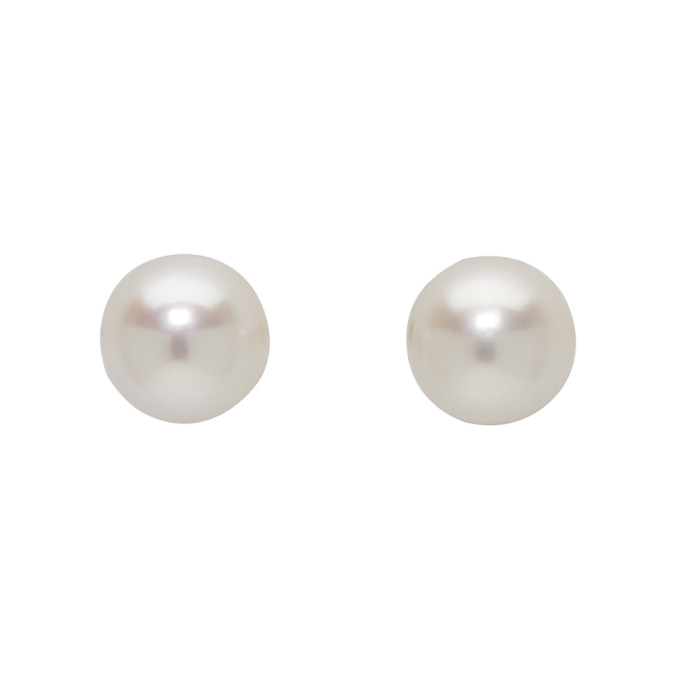 Pearls Before Swine Silver Akoya Pearl Earrings