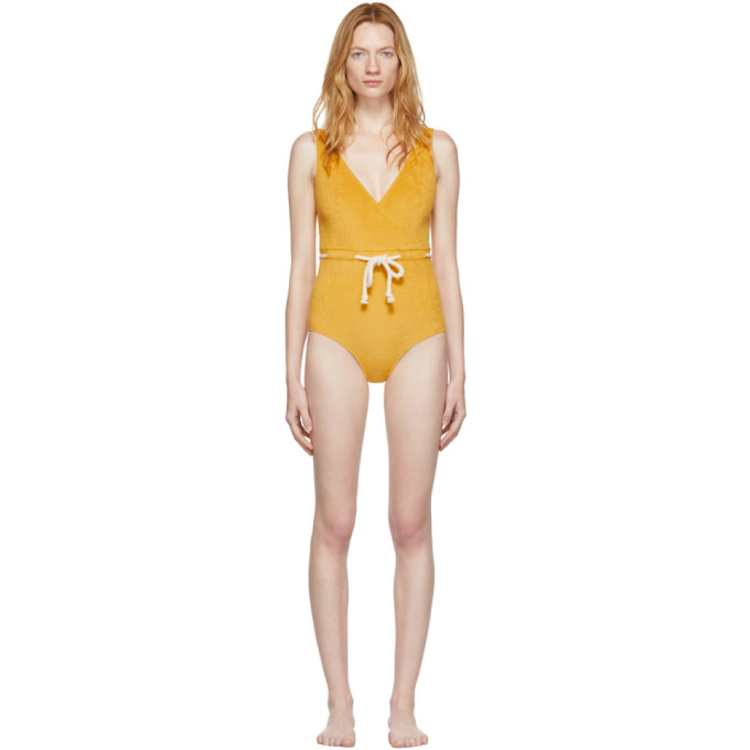 Lisa Marie Fernandez Maillot de bain une piece jaune Yasmine
