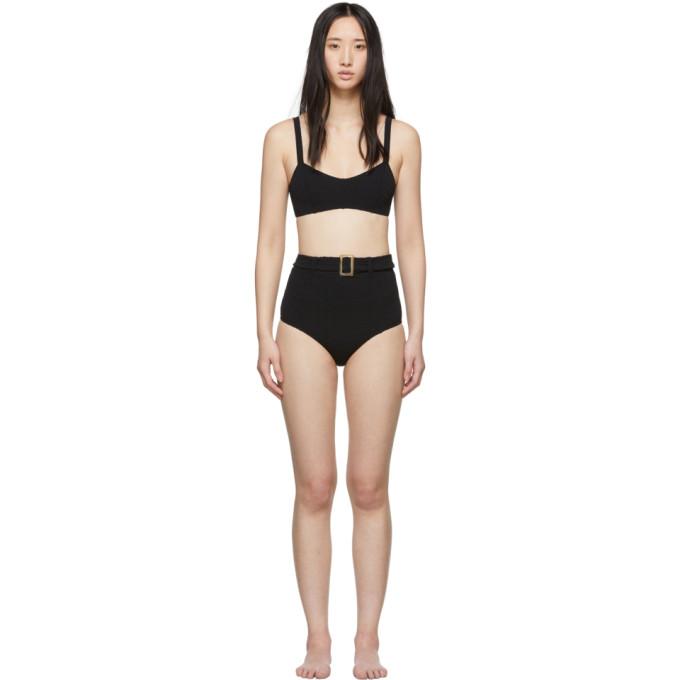 Lisa Marie Fernandez Bikini a taille haute et ceinture noir Genevieve