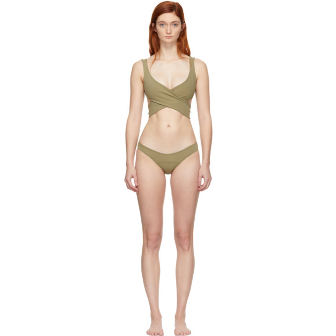 Lisa Marie Fernandez Bikini vert Marie-Louise