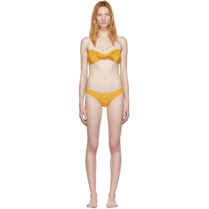 Lisa Marie Fernandez Bikini jaune Poppy
