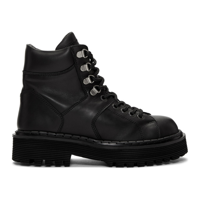 WON HUNDRED Won Hundred Black Mila Hiking Boots in 99 Black