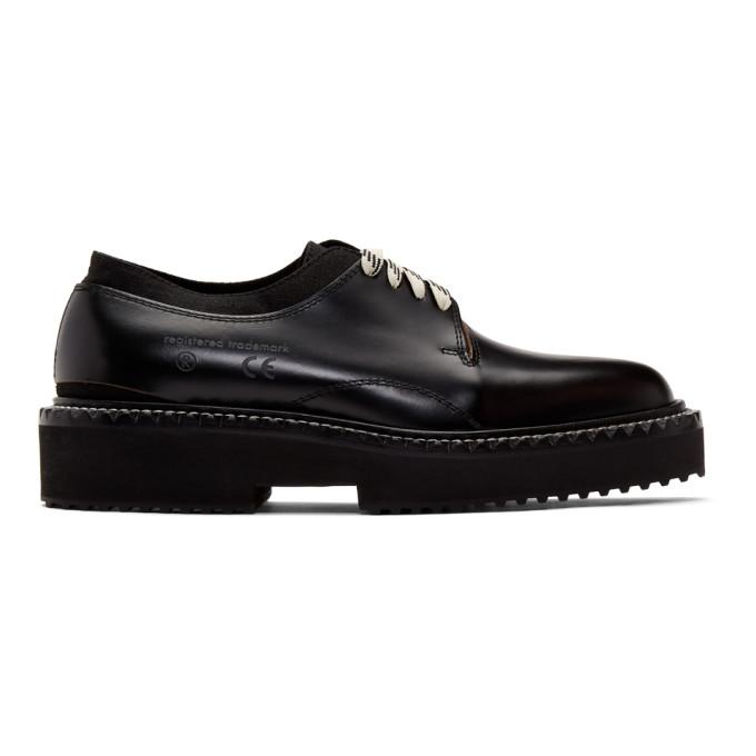 OAMC Chaussures oxford noires Cut