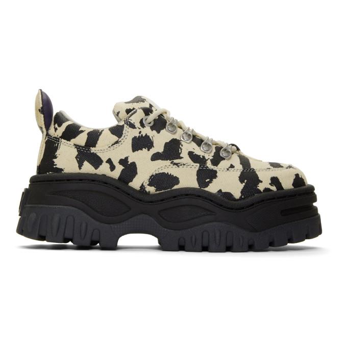 Eytys Beige and Black Serengeti Angel Sneakers
