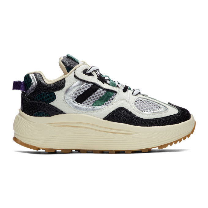 3ce72f8b9c Eytys Jet Turbo Mesh, Smooth, Textured And Patent-Leather Platform Sneakers  In White