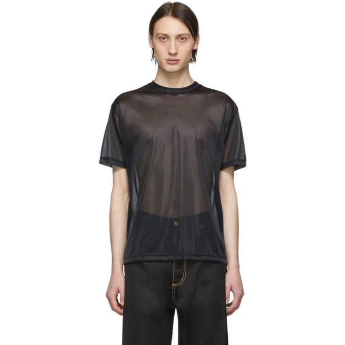 Eytys T-shirt en filet noir Smith