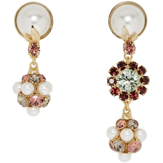 Erdem Crystal & Pearl Drop Earrings