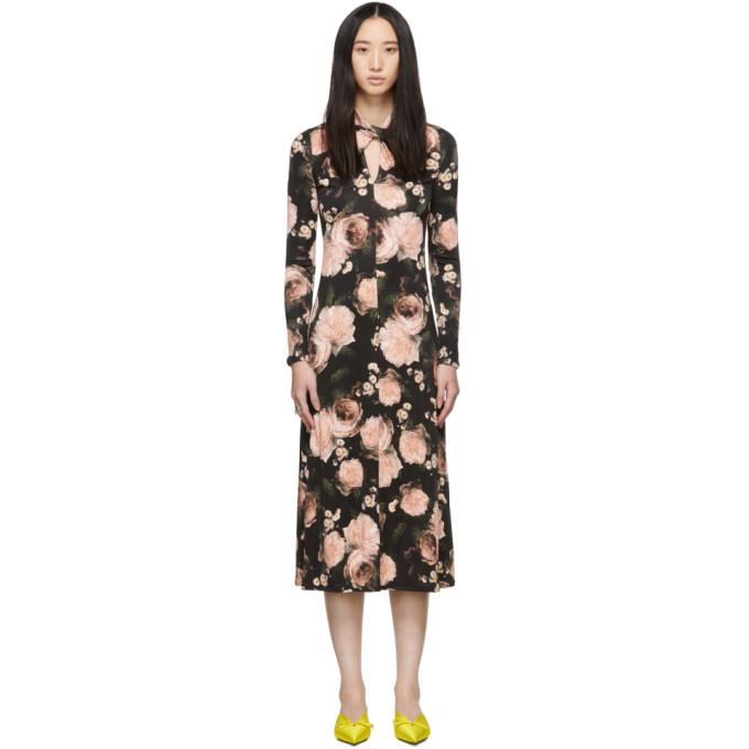 Erdem BLACK & PINK NOLENE DRESS