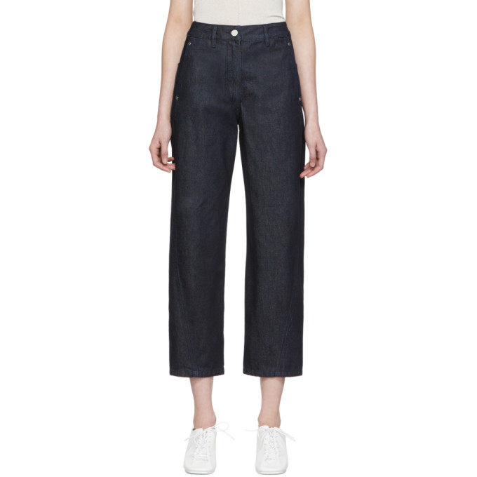 Lemaire Jean bleu marine Twisted exclusif a SSENSE