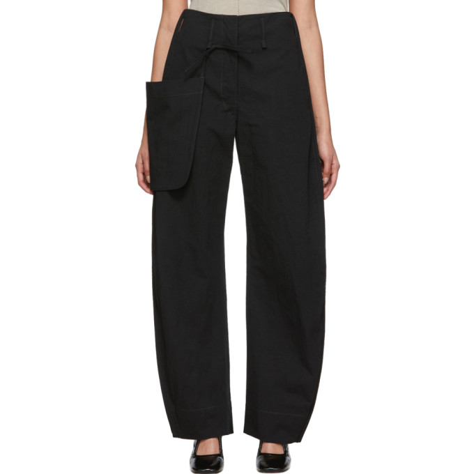 LEMAIRE | Lemaire Black Chino Pocket Trousers | Goxip