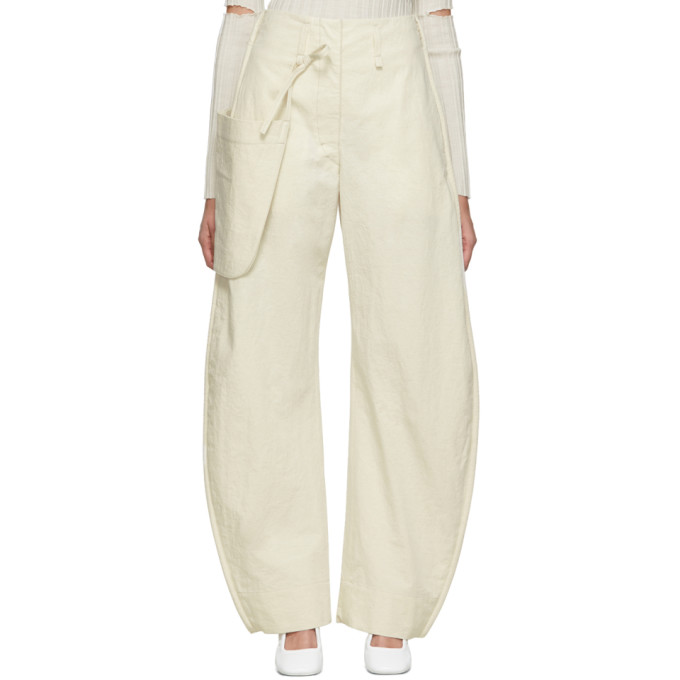 LEMAIRE | Lemaire Off-White Chino Pocket Trousers | Goxip