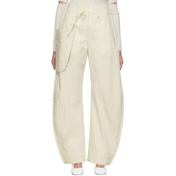 Lemaire Pantalon chinos blanc casse Pocket