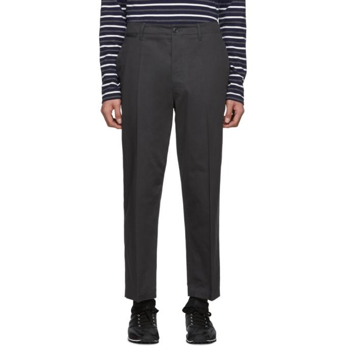 Lemaire Pantalon chinos en serge gris