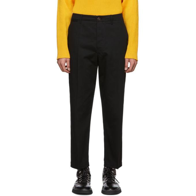 Lemaire Pantalon chinos en serge noir