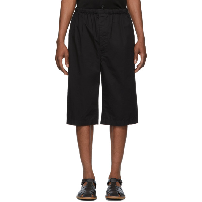Lemaire Shorts LEMAIRE BLACK SUNSPEL EDITION TWILL SHORTS