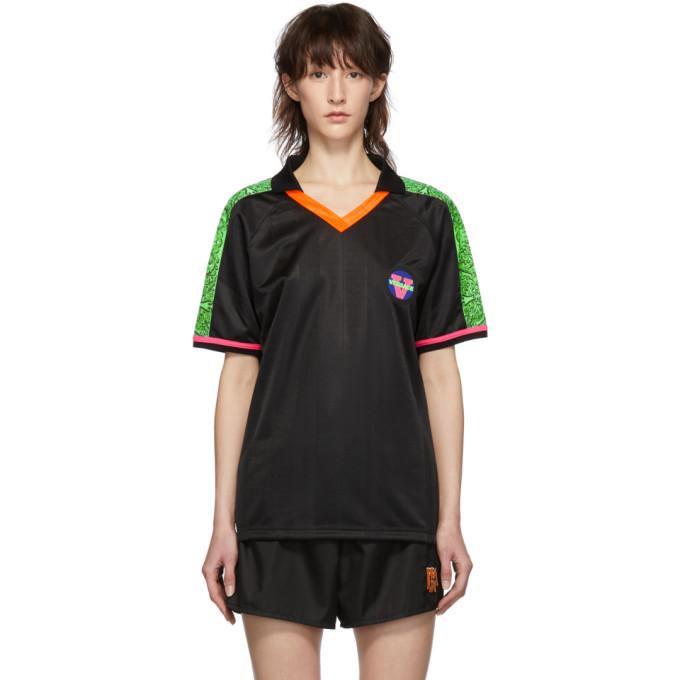 Versace Underwear T-shirt noir 80s Football Jersey