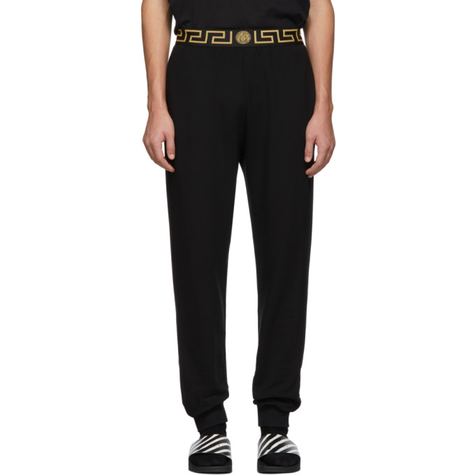 53eb96400a Versace Underwear Black Greca Border Lounge Pants 191653M19000402