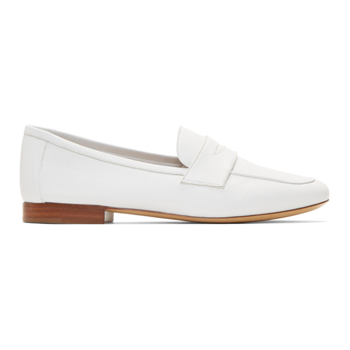 Mansur Gavriel White Leather Classic Loafers