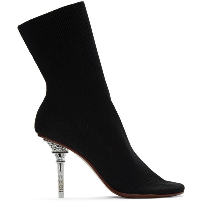 Vetements Boots VETEMENTS BLACK EIFFEL TOWER SOCK BOOTS