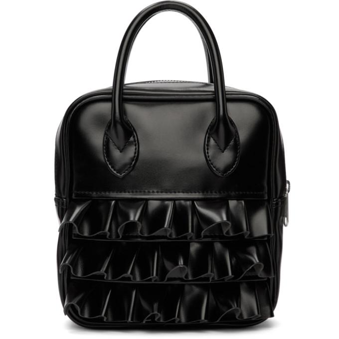 Image of Comme des Garçons Girl Black Ruffled Duffle Bag