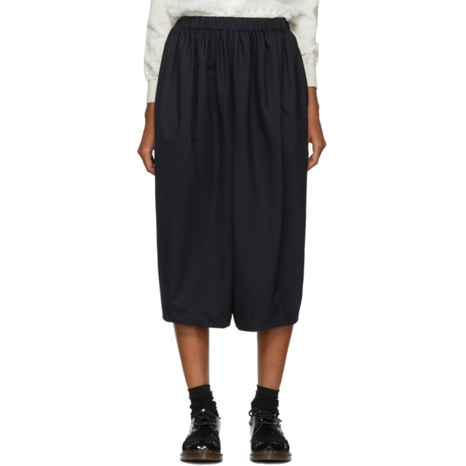 Image of Comme des Garçons Girl Navy Gathered Trousers