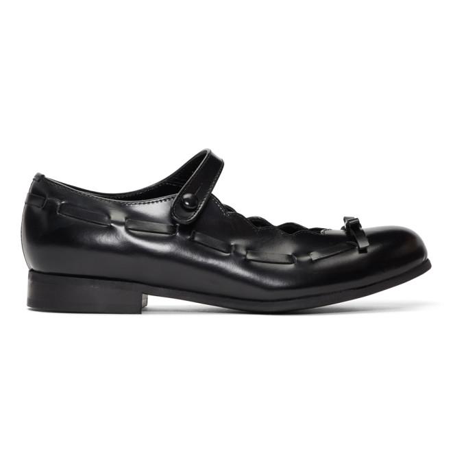 Image of Comme des Garcons Girl Black Mary Jane Ballerina Flats