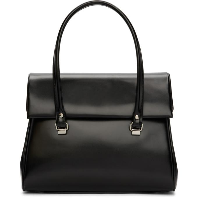 Image of Comme des Garçons Comme des Garçons Black Foldover Duffle Bag