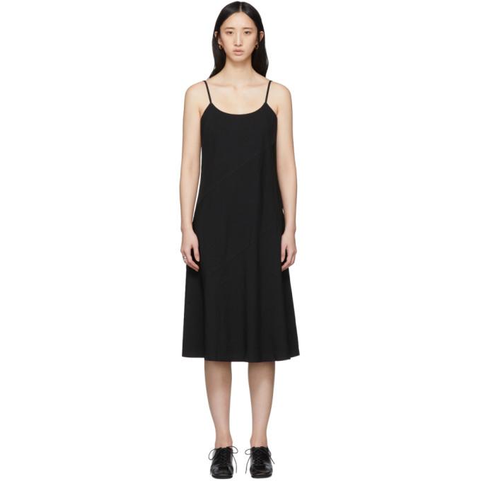 Image of Comme des Garçons Comme des Garçons Black Crinkle Slip Dress