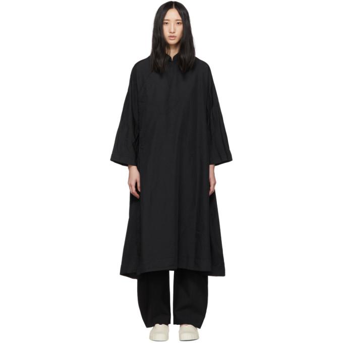 Image of Comme des Garçons Comme des Garçons Black Cheongsam Coat