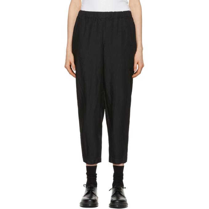 Image of Comme des Garçons Comme des Garçons Black Crinkled Trousers