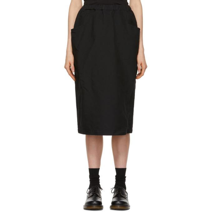 Image of Comme des Garçons Comme des Garçons Black Crinkle Skirt