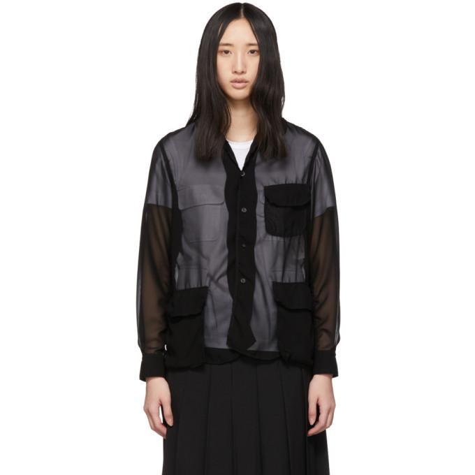 Image of Comme des Garçons Comme des Garçons Black Georgette Shirt