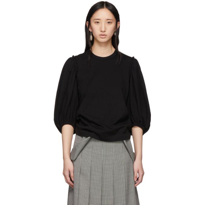 Image of Comme des Garçons Comme des Garçons Black Cotton Jersey T-Shirt