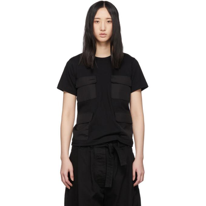 Image of Comme des Garçons Comme des Garçons Black Four-Pocket T-Shirt