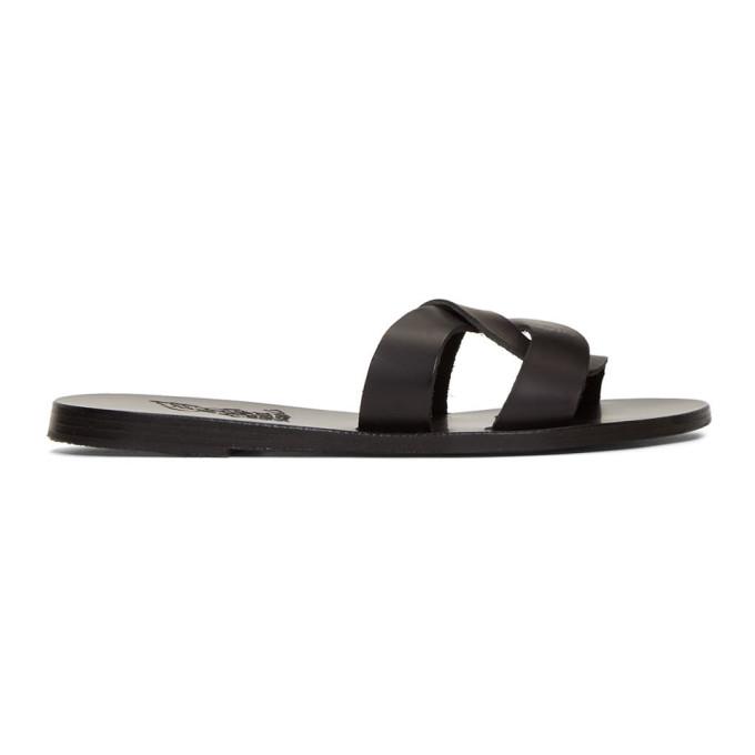 Ancient Greek Sandals Black Desmos Sandals