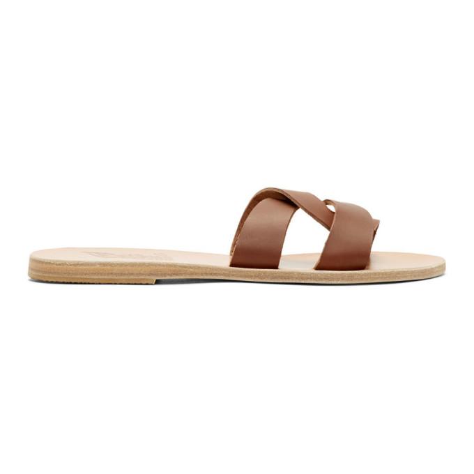 Image of Ancient Greek Sandals Brown Desmos Sandals