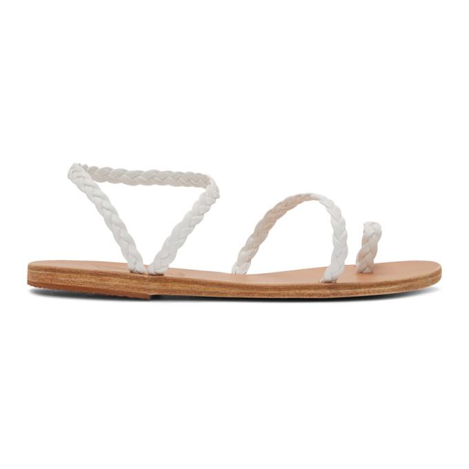 Ancient Greek Sandals White Eleftheria Sandals